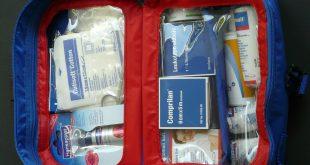 composants de la boîte à pharmacie